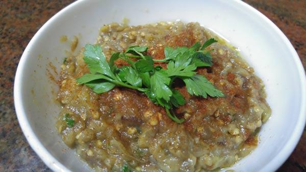 receta baba ganoush libanes