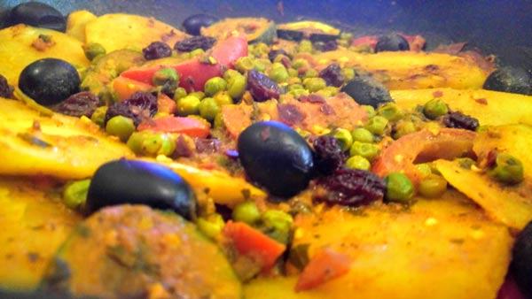 receta de tajine con verduras