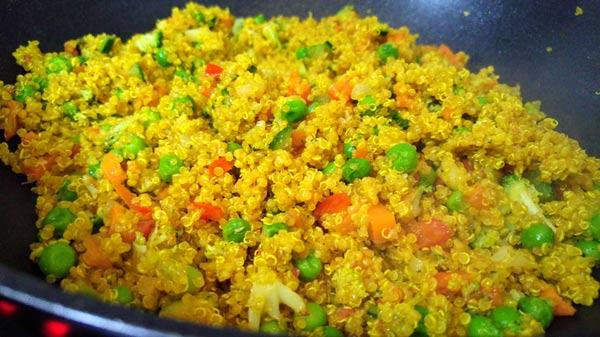 como preparar quinoa con verdura