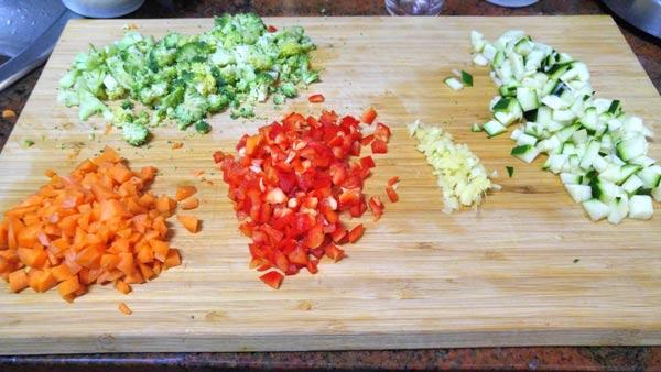 quinoa de verduras coccion