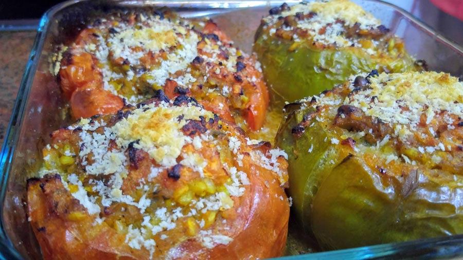 como hacer tomates rellenos con arroz