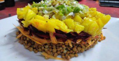 Ensalada con legumbres