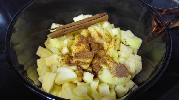 pure de manzana receta facil