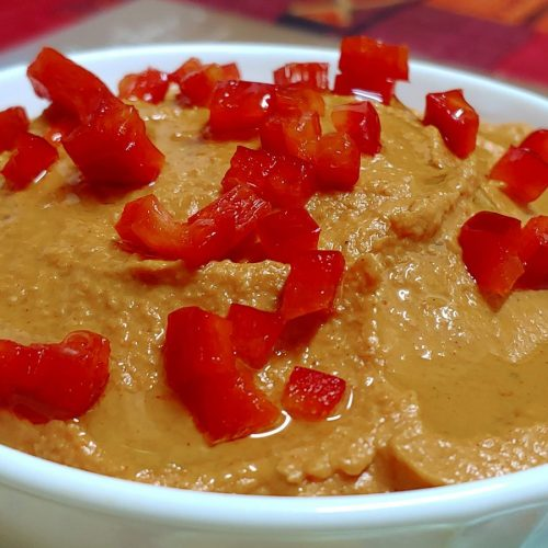 Hummus de pimientos asados y garbanzos
