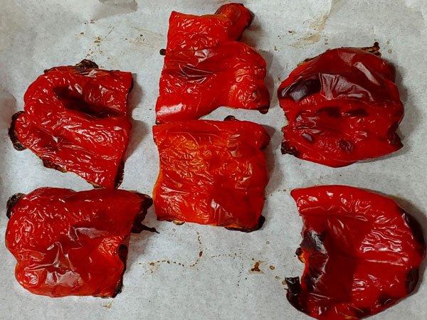 Receta vegana de hummus de pimientos al horno con garbanzos cocidos