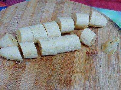 pastelón de plátano maduro vegano sin carne molida