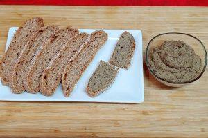 Paté de setas shiitake y lenteja roja vegano y casero