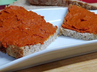 Receta de sobrasada vegetariana casera de anacardos y tomate seco