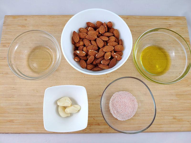 Ingredientes del ajoblanco casero