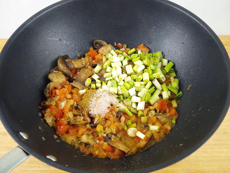 Receta de granos de espelta con tomate